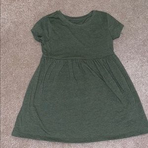 Olive colored t-shirt dress
